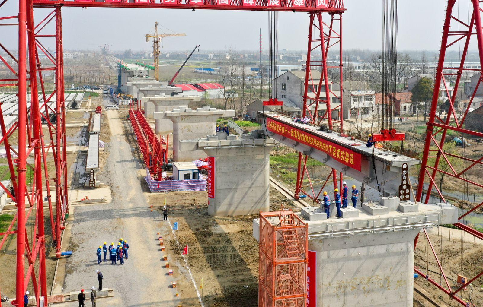#CHINA-HUBEI-INTERCITY RAILWAY-CONSTRUCTION (CN)
