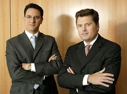 Rasante Entwicklung: Die Vorstände Marcus Wolsdorf (l.) und Robert Haselsteiner leiten den Münchener Baufinanzierer