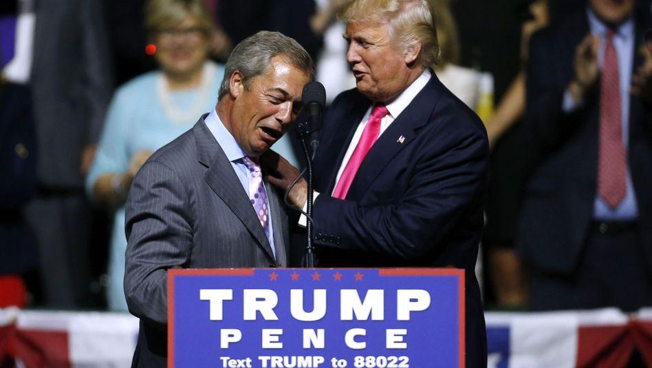 Nigel Farage, Donald Trump im August