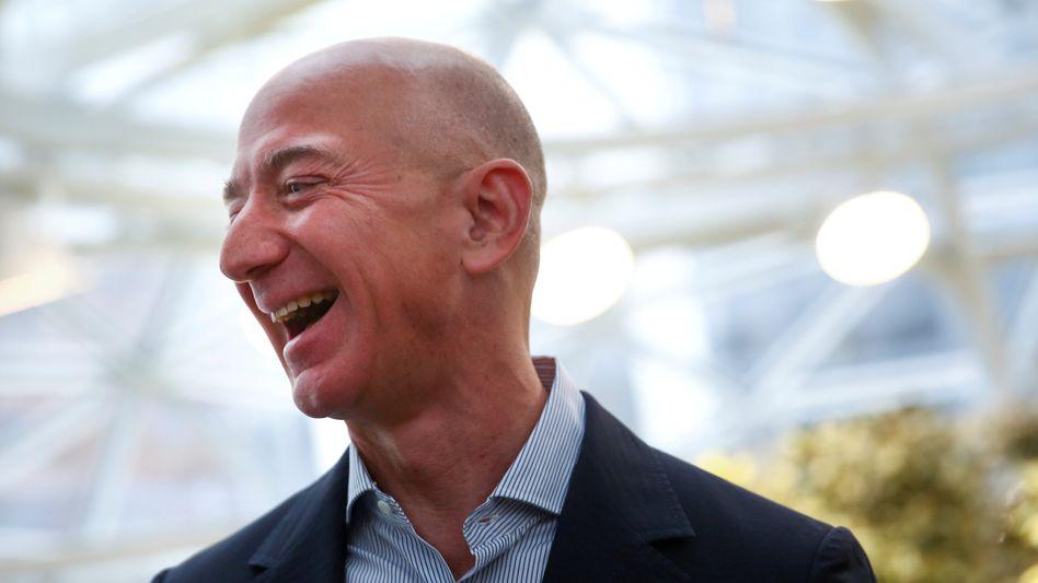 Steuern? Das Thema zaubert Amazon-Chef Jeff Bezos zuweilen ein beherztes Lachen ins Gesicht
