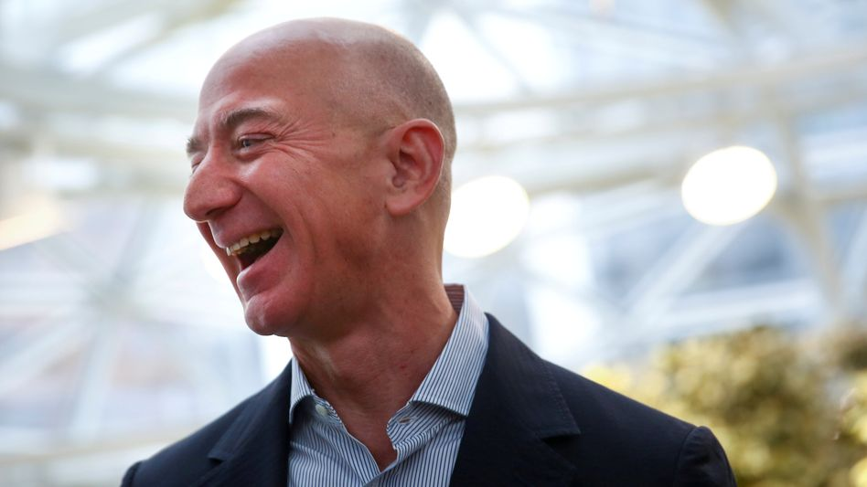 Rekordjagd: Amazon-Chef Jeff Bezos nimmt es mit Humor