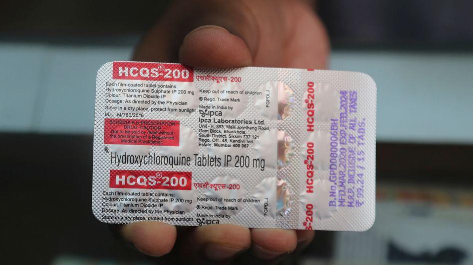 Medikament Hydroxychloroquin: Das von Donald Trump hochgelobte Medikament stand unter Verdacht, die Mortalität bei Covid-19-Patienten zu erhöhen