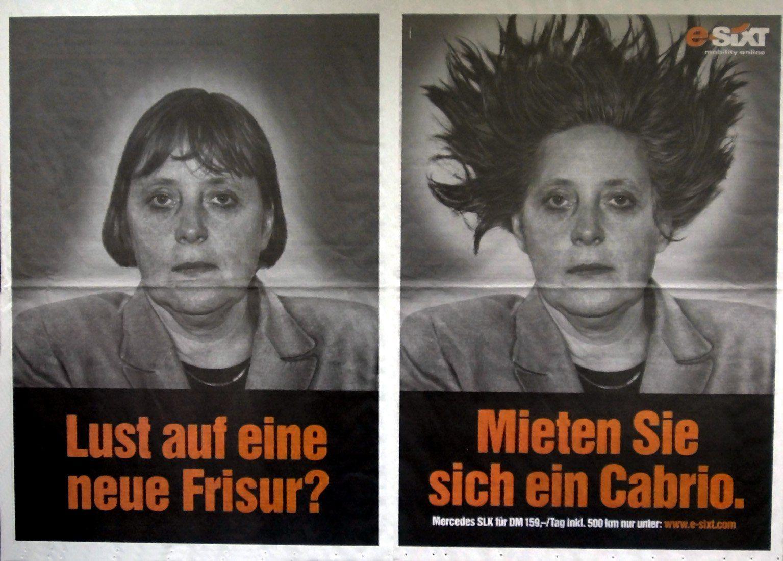 Sixt-Werbung mit Angela Merkel