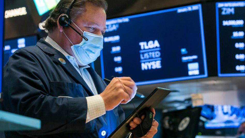 Zufrieden: Händler an der New Yorker Börse