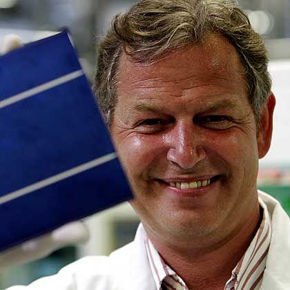 Hat Produktionslinien stillgelegt: Anton Milner, Chef von Q-Cells