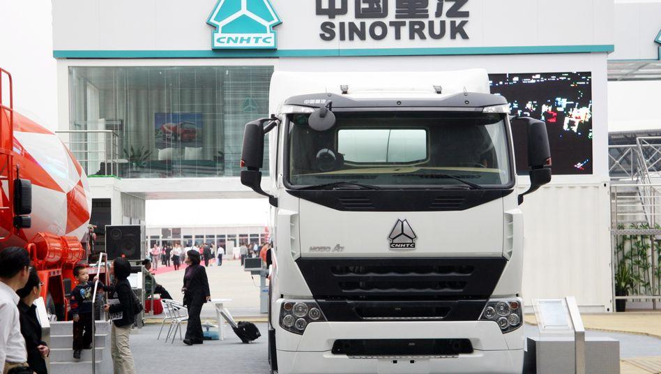 Lkw des chinesischen Herstellers Sinotruk: Das Jointventure mit MAN kommt nicht so recht voran