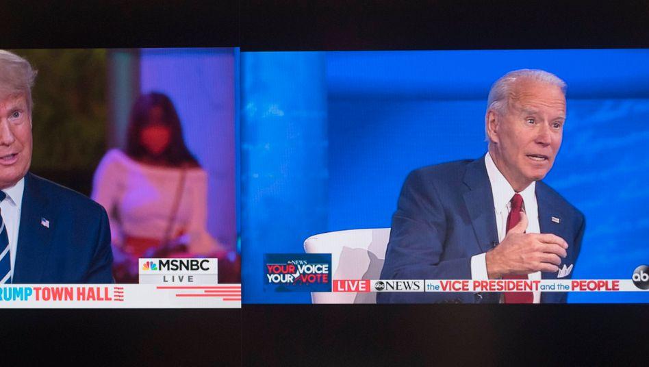 Donald Trump und Joe Biden traten in zeitgleich unterschiedlichen TV-Shows auf