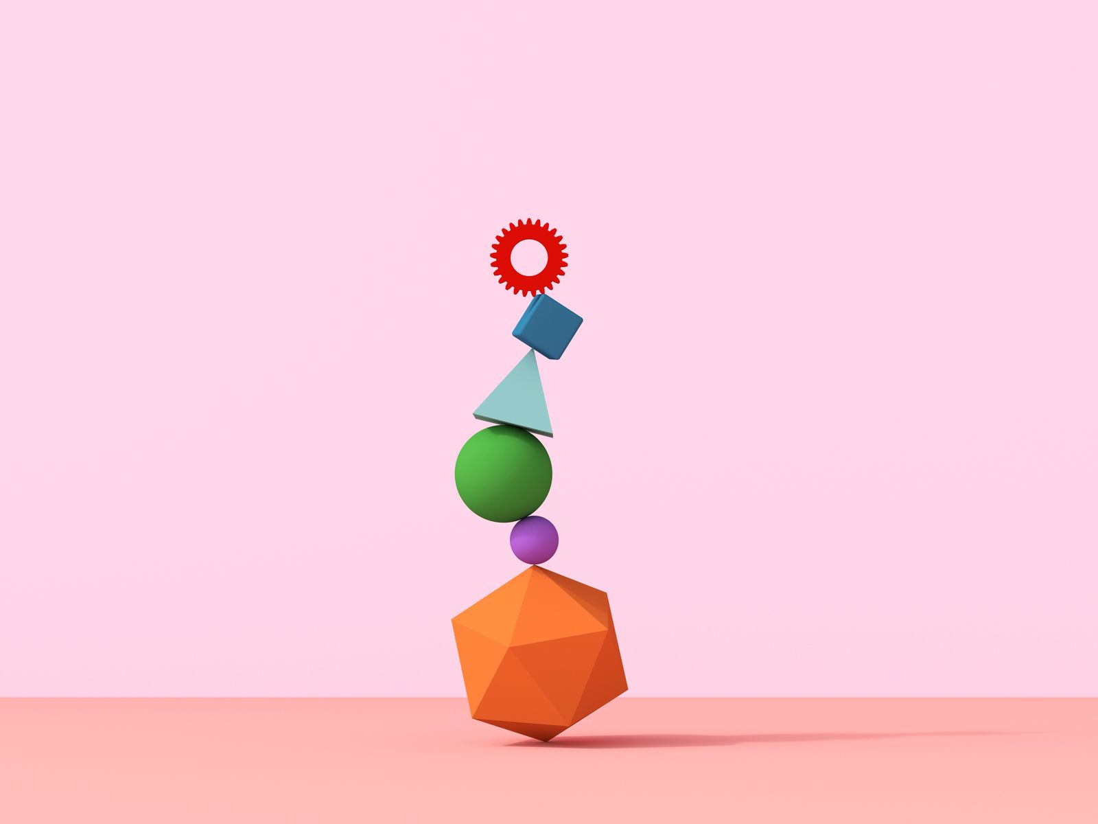 stack of geometric shapes