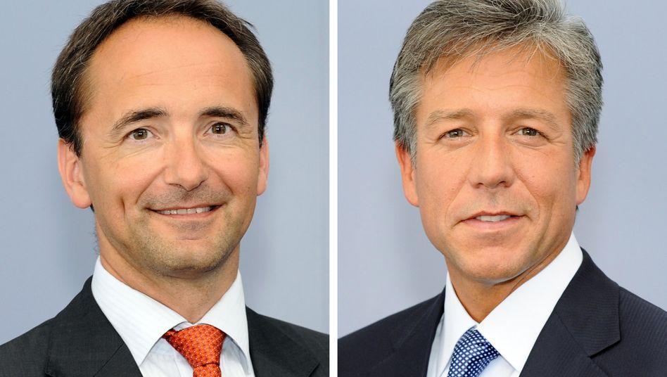 Einzige Doppelspitze im Dax: SAP-Chefs Jim Hagemann Snabe (l.), Bill McDermott