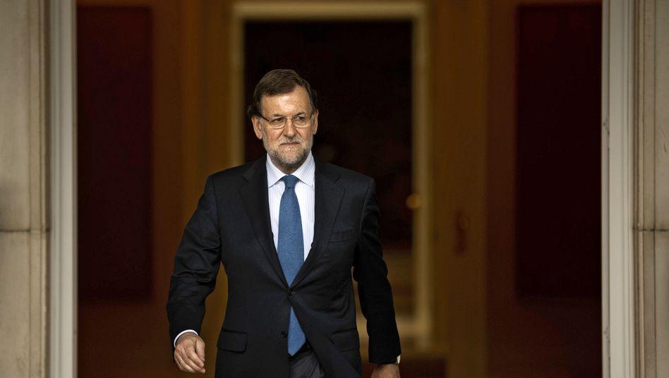 Spaniens Ministerpräsident Mariano Rajoy Ende Mai in Madrid