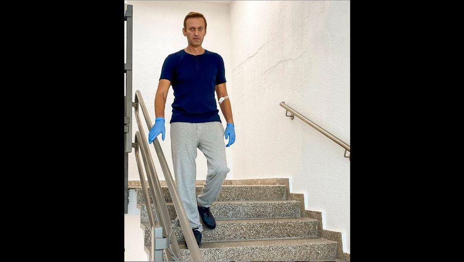 OppositionspolitikerAlexej Nawalny im Berliner Charité