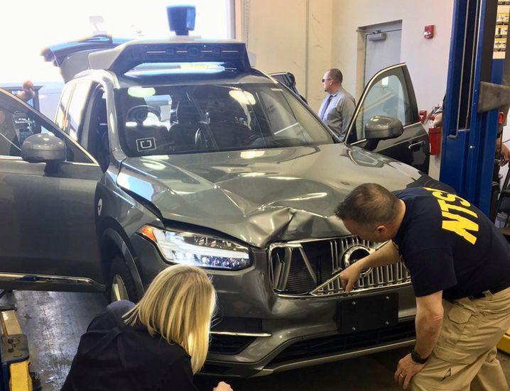 Das autonome Unfallfahrzeug von Uber in den USA