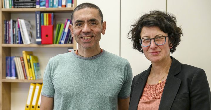 Ikonen der Forschung: BioNTech-ChefUgur Şahin und Özlem Türeci, medizinische Geschäftsführerin