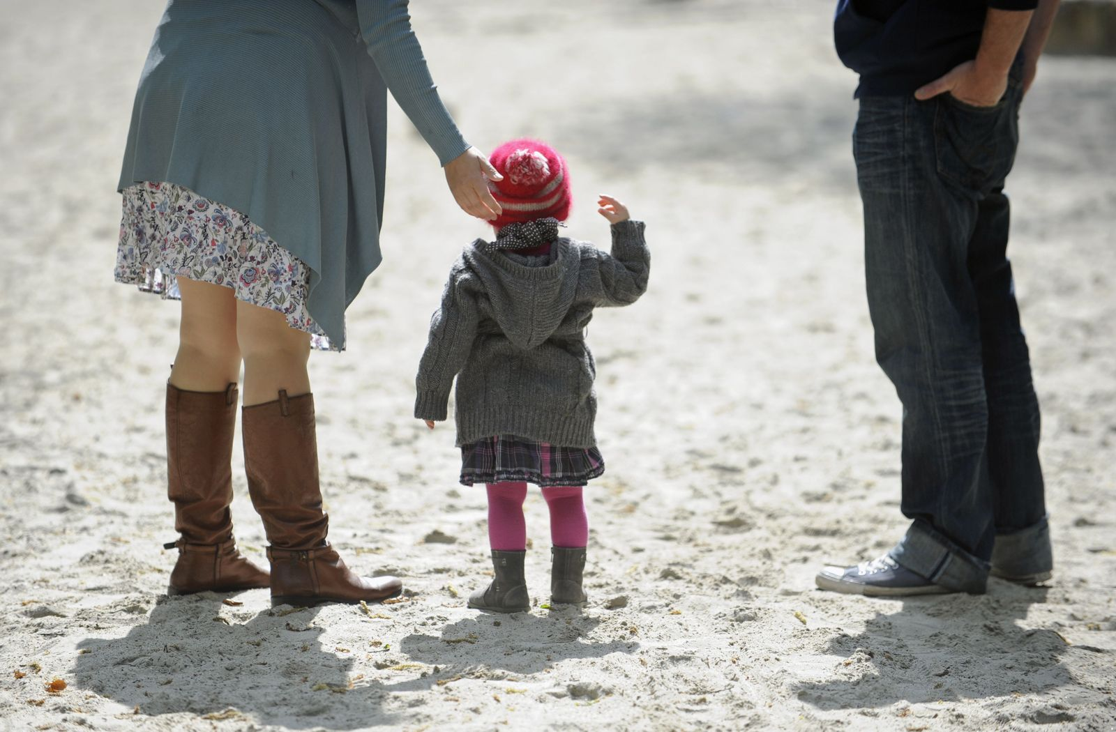 Eltern mit Tochter / Altersvorsorge