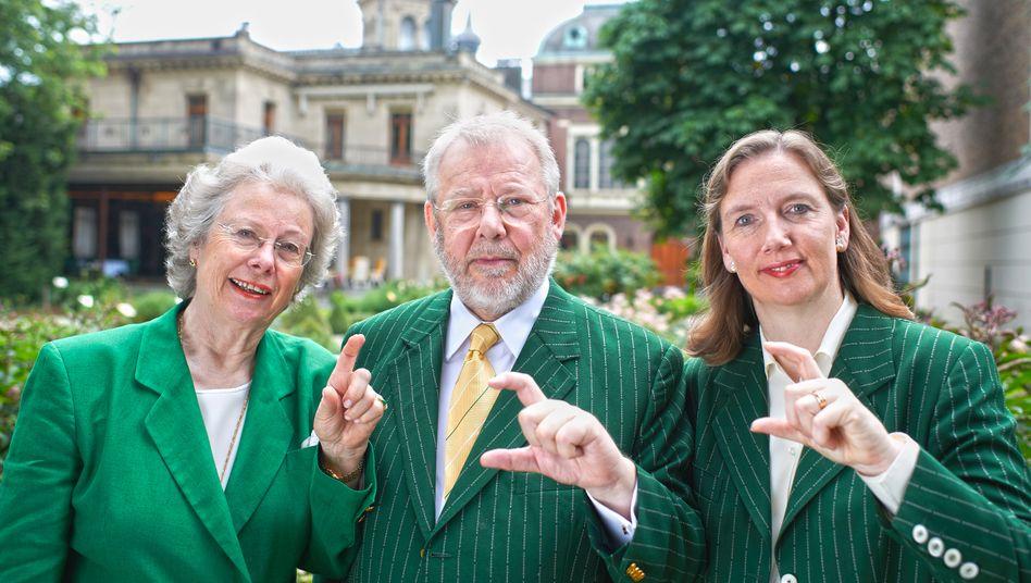 Alte Garde: Christine Underberg, Emil Underberg und Hubertine Underberg-Ruder anlässlich eines Firmenjubiläums 2011.