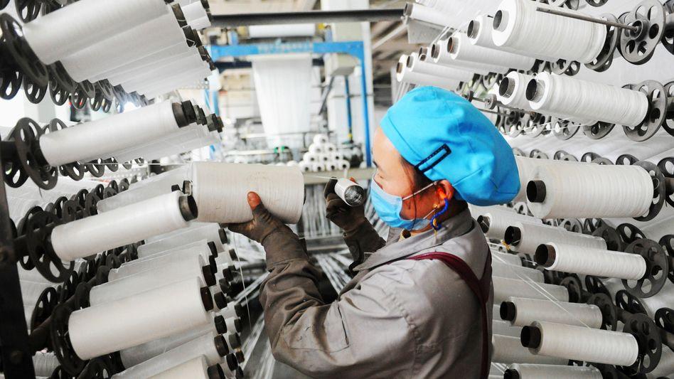 Textilfabrik in Lianyungang in Chinas Ostprovinz Jiangsu
