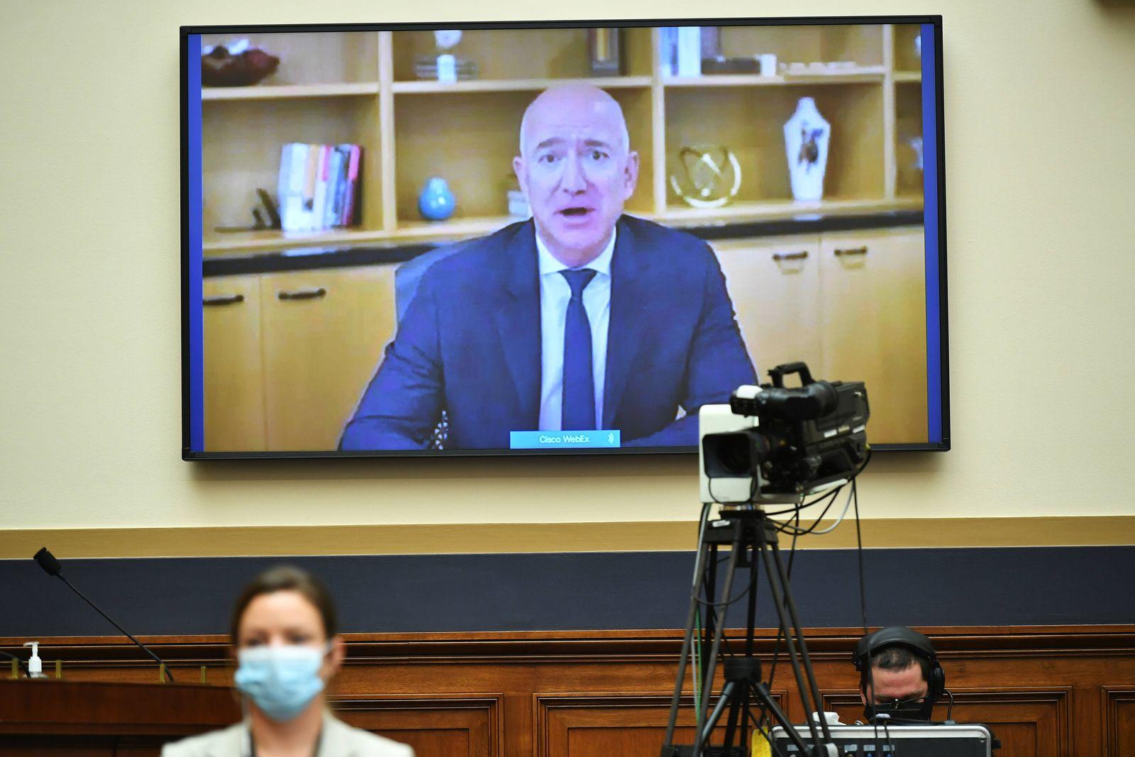 July 29, 2020, Washington, District of Columbia, USA: Amazon CEO Jeff Bezos testifies before the House Judiciary Subcom