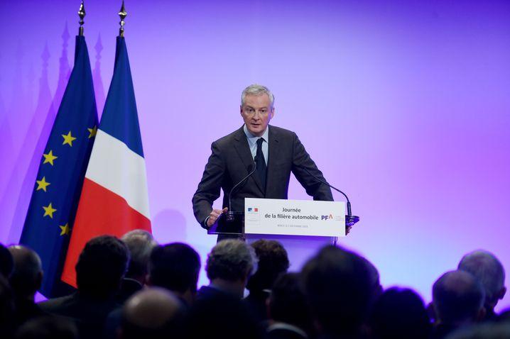 Französischer Wirtschaftsminister Minister Bruno Le Maire: Die Abhängigkeit von China vor allem in den Bereichen Autos und Pharma müsse verringert werden