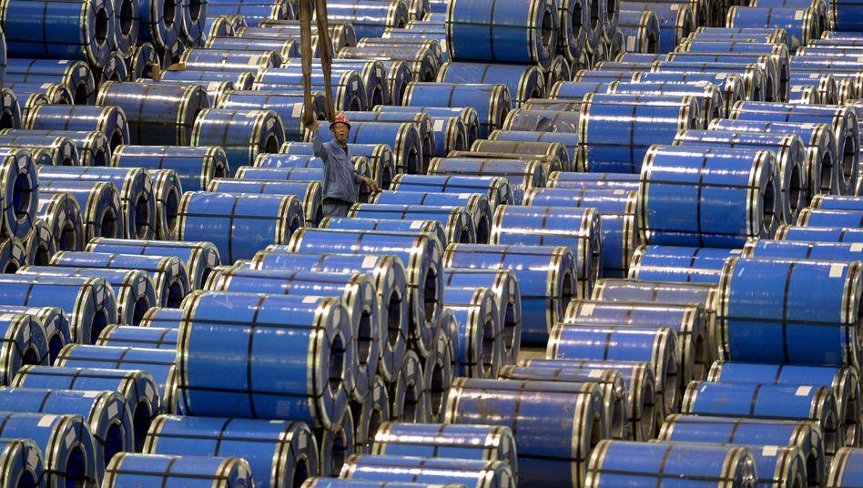 Stahlproduktion in Taiyuan, China