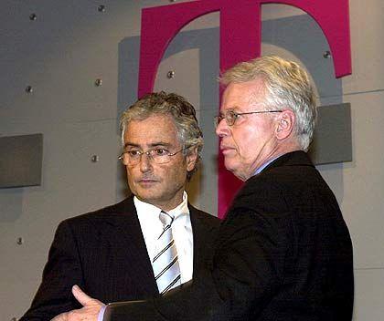 Enge Vertraute: Jürgen Kindervater (r.) und der ehemalige Konzernchef Ron Sommer