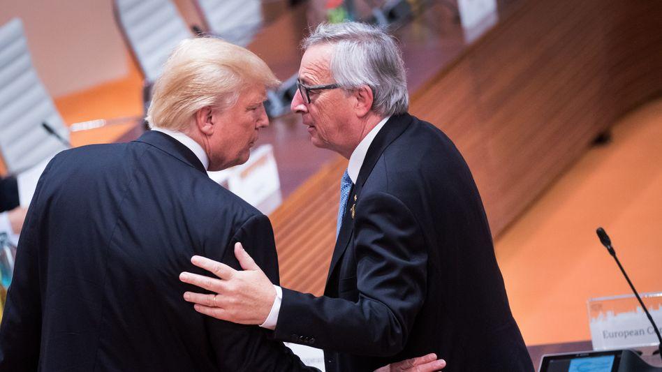 """Juncker, Trump: """"Gute Nachrichten für Donald Trump"""""""