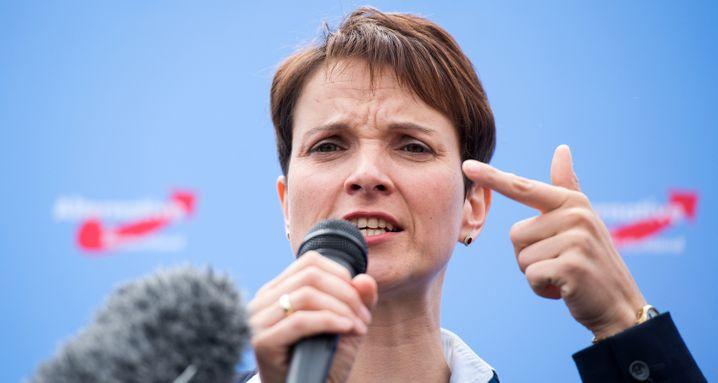 Flüchtlinge, Flüchtlinge, Flüchtlinge: Das Thema Wirtschaft behandelt die AfD eher stiefmütterlich (im Bild: Parteivorsitzende Frauke Petry)