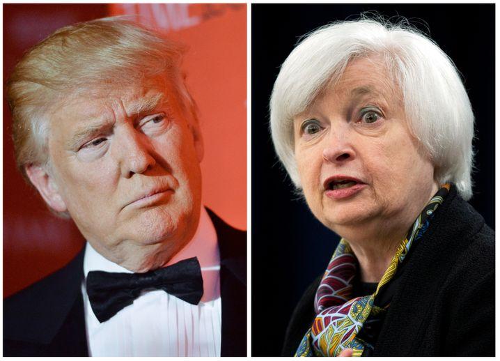 Alles andere als beste Freunde: Donald Trump und Fed-Chefin Janet Yellen
