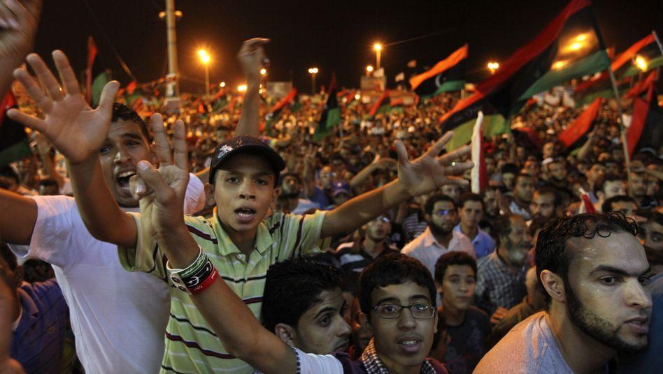 """Siegesfeier der Rebellen in Bengasi: """"Die Stunde Null hat begonnen"""""""