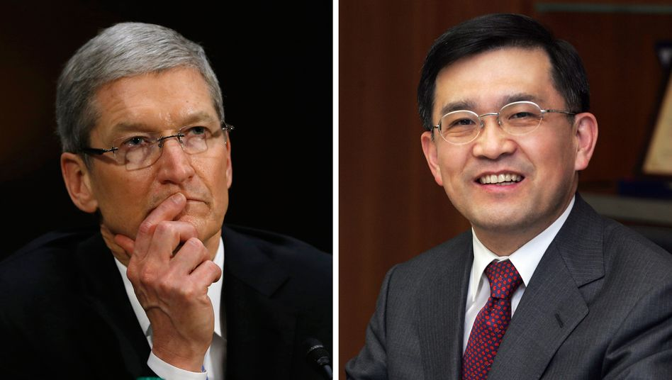 Tim Cook, Oh-Hyun Kwon: In einer Mediation wollen die Vorstandschefs von Apple und Samsung persönlich einen Ausweg aus den schon lange währenden Patentstreitigkeiten finden