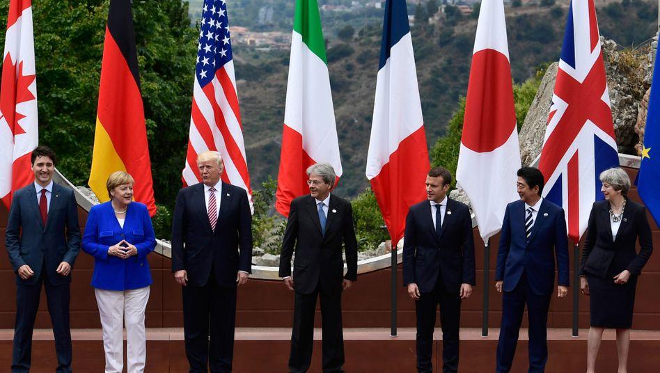 6 wollen, 1 blockiert: G7-Gipfel auf Sizilien