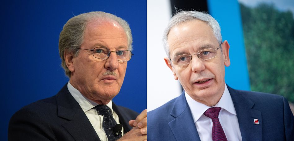Gegenspieler: Gewerkschaftschef Michael Vassiliadis (rechts) und Continental-Aufsichtsratschef Wolfgang Reitzle