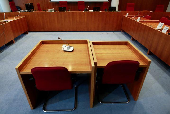 Saal des Bonner Landgerichts