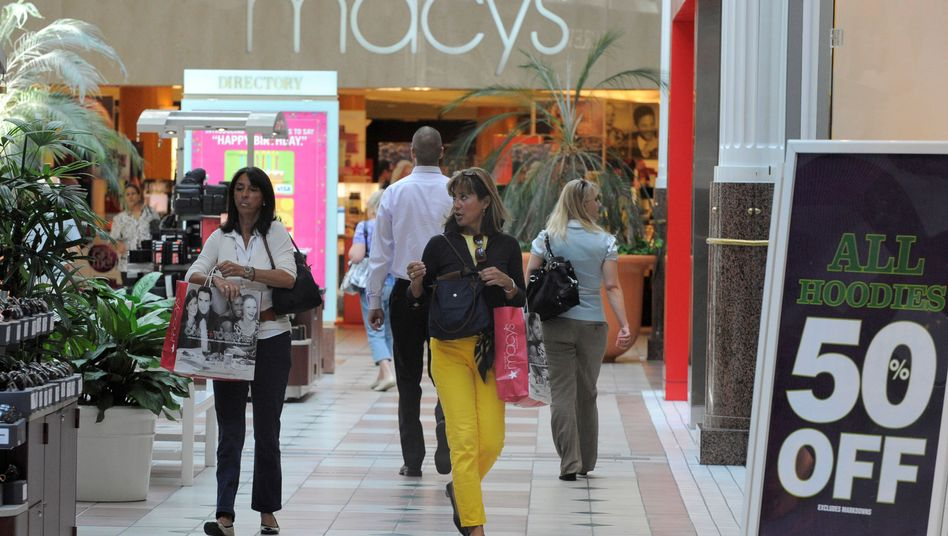 Einkaufscenter in den USA: Shopping-Kapazität der US-Bürger sinkt