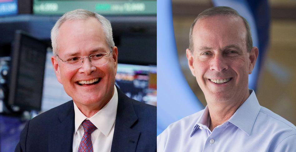 Exxon-Boss Darren Woods (links), Chevron-Chef Mike Wirth: Die besten Jahre der Ölindustrie sind vorbei. Ist das der Beginn einer neuen wunderbaren Freundschaft?
