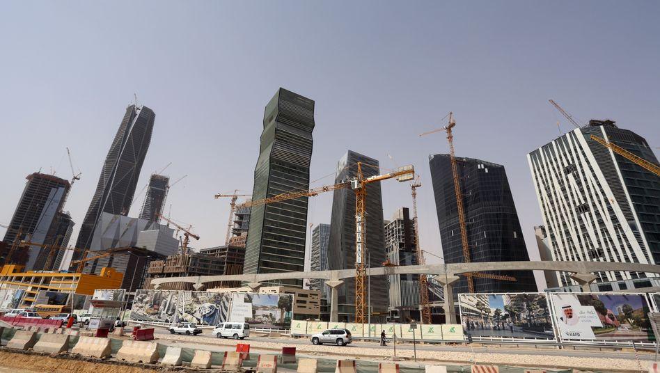 Baustelle im Finanzdistrikt von Riad
