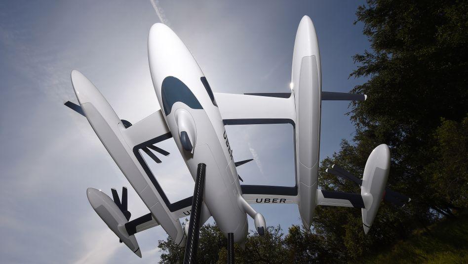 So sollte die Zukunft aussehen: Ein Flugtaxi-Modell von Uber Elevate