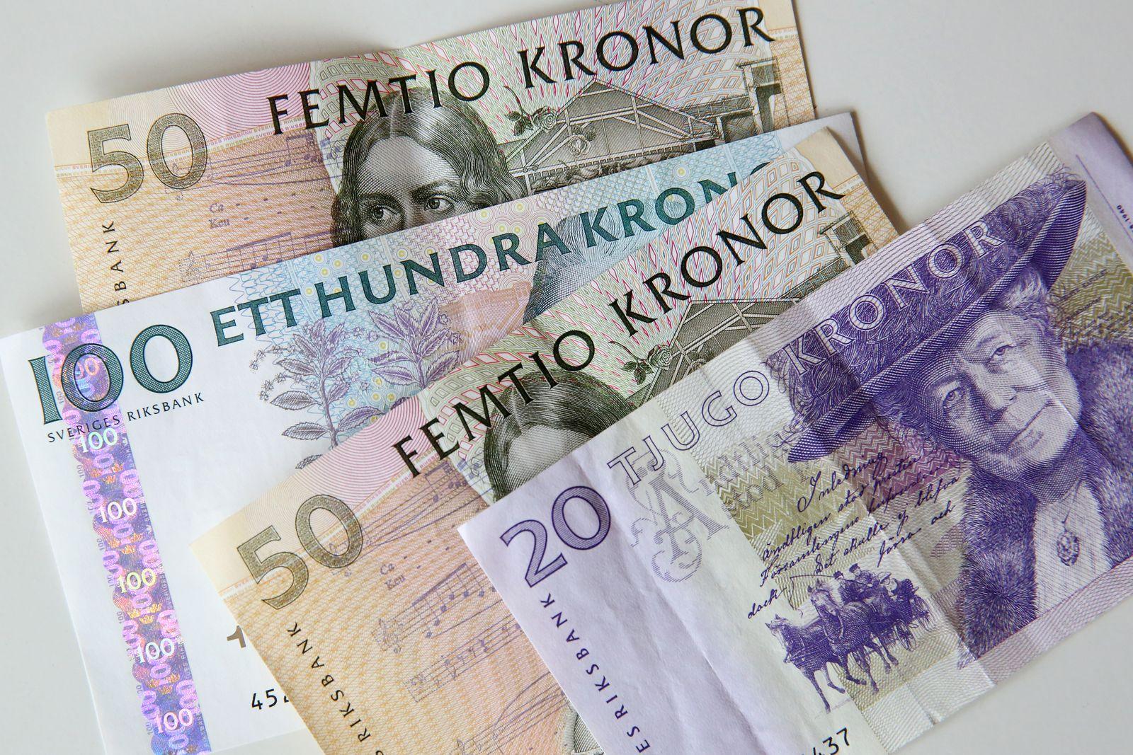 Bargeld - Banknoten - Schweden