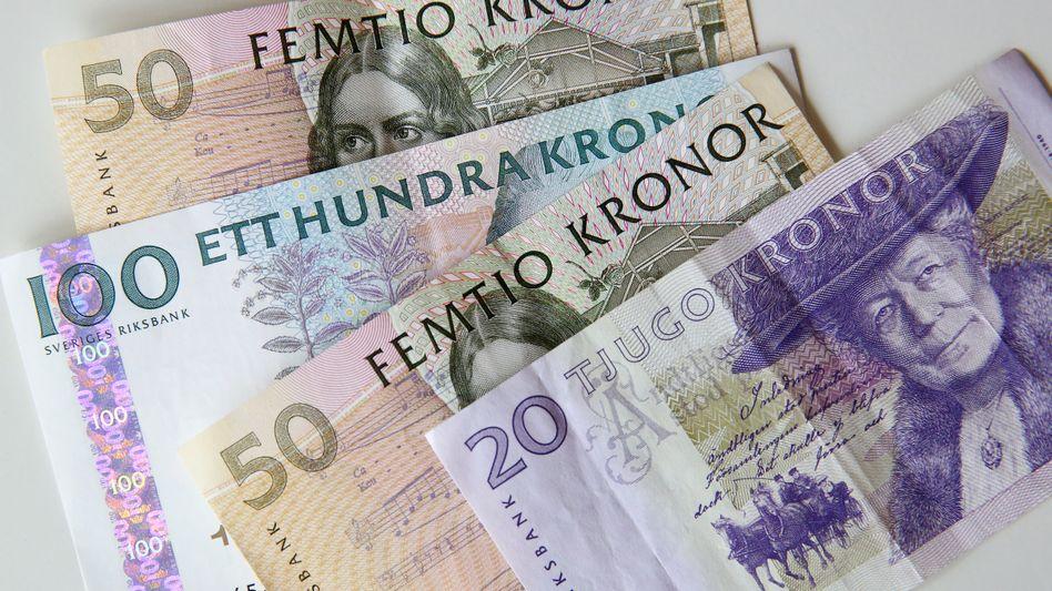 Papiergeld auf Abschiedstour: Banknoten der schwedischen Währung Krone