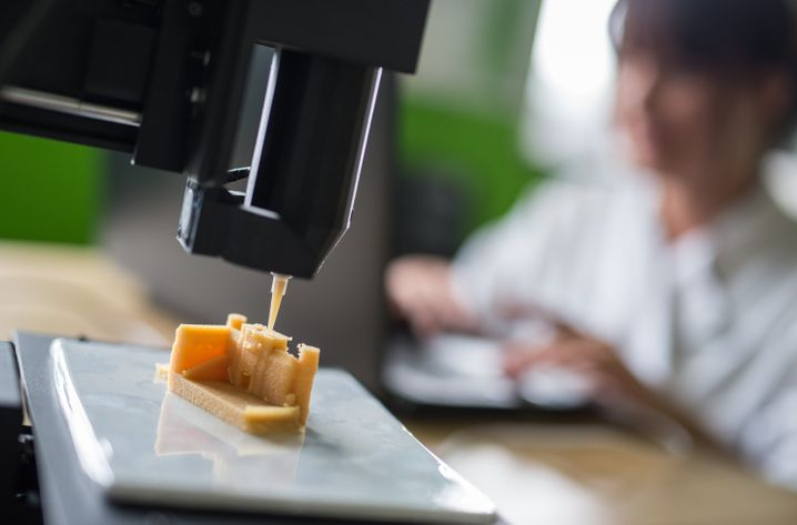 Im Fluss: Marzipanschloss aus dem 3D-Drucker