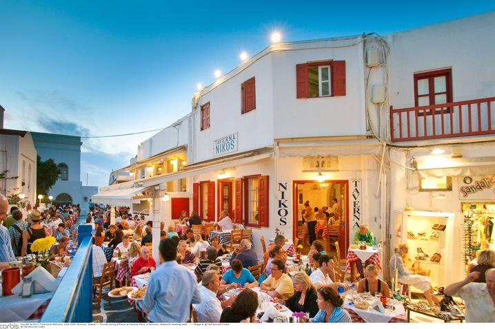 """Taverne in Mykonos: """"Achten Sie auf Veränderungen der Situation"""", warnt das niederländische Außenministerium Urlauber"""