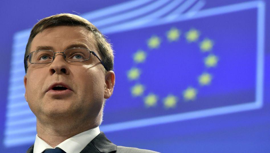 Gilt nicht gerade als diplomatisches Schwergewicht: Valdis Dombrovskis, Finanzmarktkommissar der EU.
