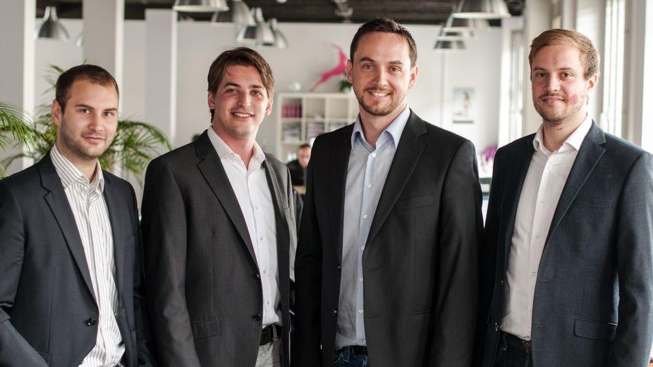 Ende der Eigenständigkeit: Das Start-up Signavio - hier die Gründer des Unternehmens - wechselt unter das Dach von SAP