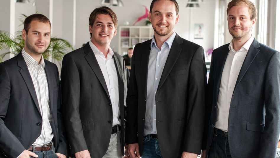 Signavio-Gründerteam (von links): Torben Schreiter, Nicolas Peters, Willi Tscheschner, Gero Decker