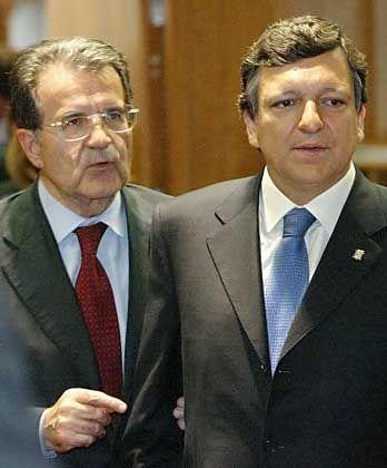 """Romano Prodi mit Nachfolger Jose Manuel Barroso: """"Europäische Union stärker machen"""""""