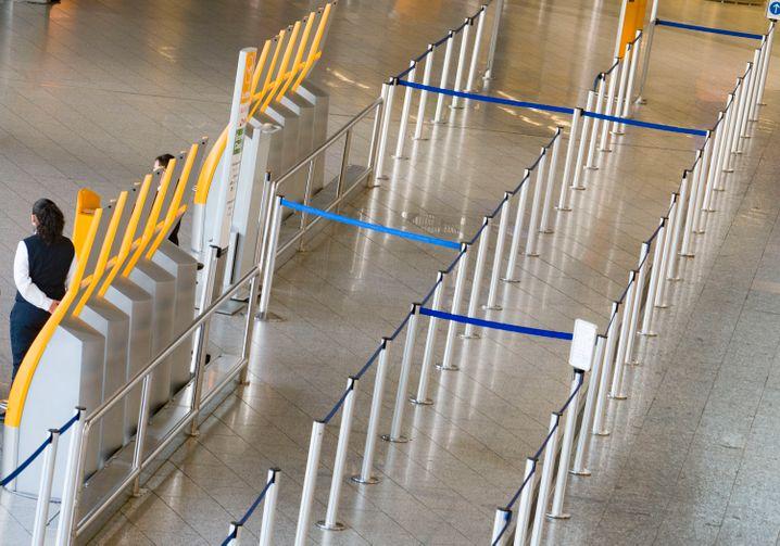Flughafen Frankfurt am Main: Der Flugverkehr ist momentan quasi zum Erliegen gekommen