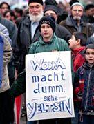Recht hat er! Demonstrant in Hamburg