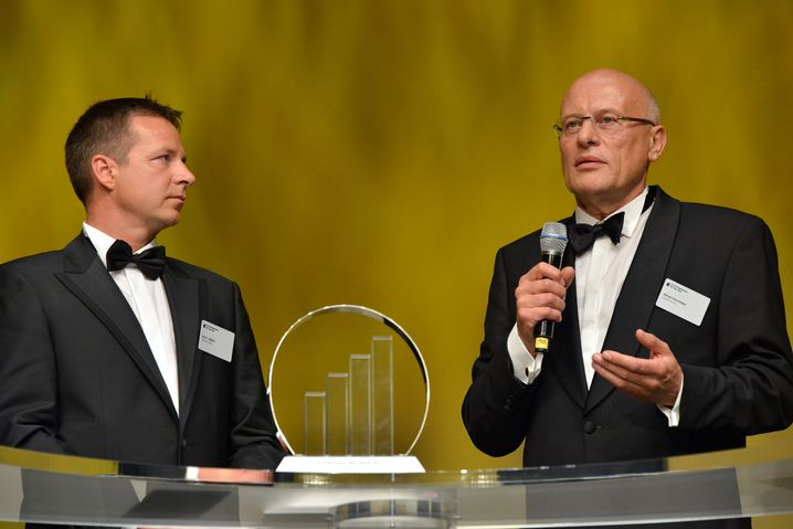Entrepreneure des Jahres in der Kategorie Dienstleistung: Die beiden invenio-Lenker Kai Wißler und Alfred Keschtges (r.) setzen auf ganzheitliche Innovation