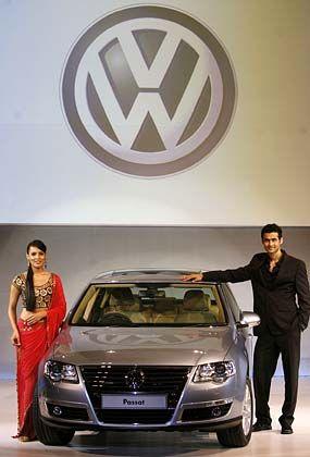 Kommt gut an: Präsentation des VW Passat in Mumbai im September dieses Jahres