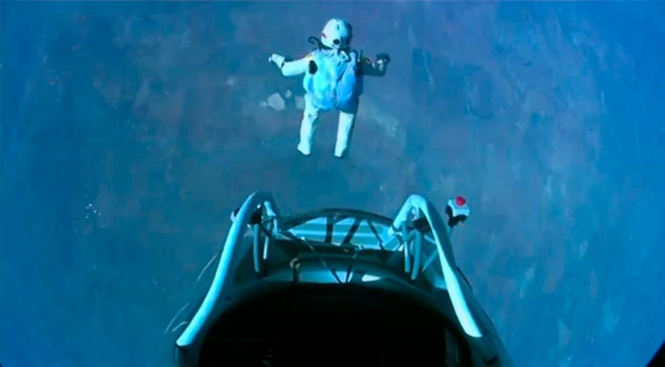 Hallo Erde: Felix Baumgartner springt aus 39 Kilometern Höhe ab