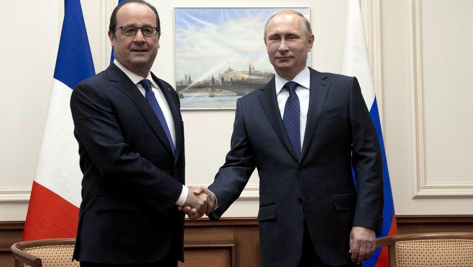 Präsidenten Hollande und Putin: Kurztreffen zur Ukraine-Krise